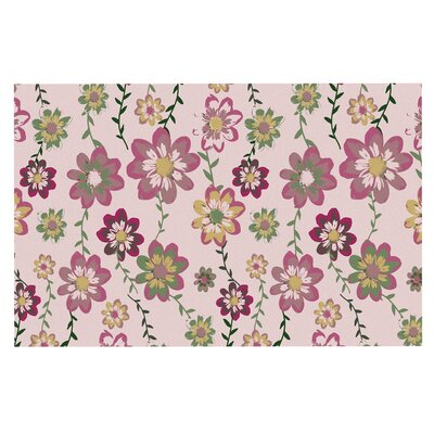 Romantic Flowers in Pink Blush Decorative Doormat