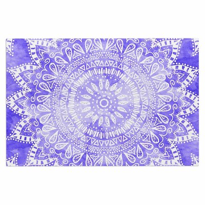 Boho Flower Mandala Doormat Color: Purple