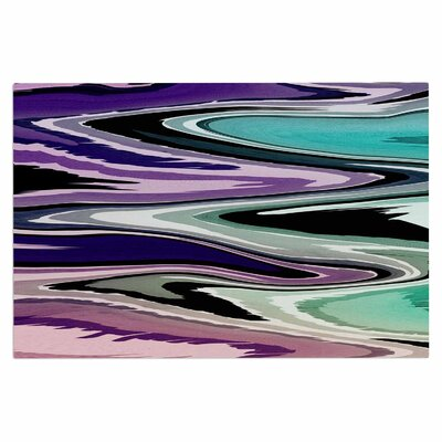 Colorful Beach Waves Doormat