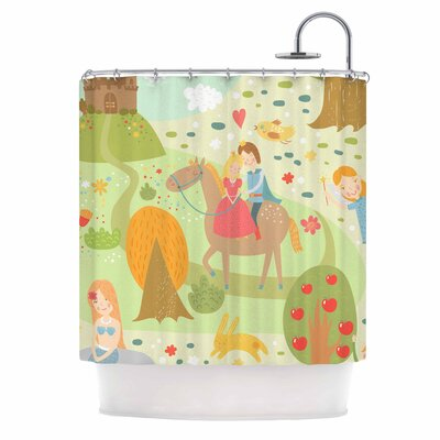 Fairy Tale Fantasy Illustration Shower Curtain