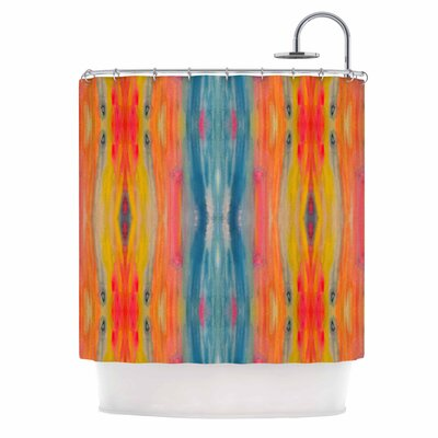 Boho Tie Dye Shower Curtain
