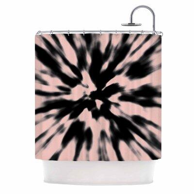 Tie Dye Rose Shower Curtain