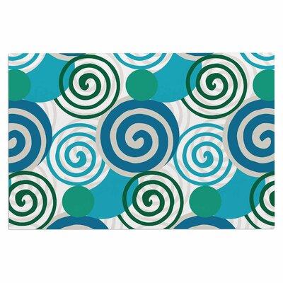 Dynamic Swirls Teal Doormat