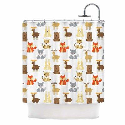 Retro Animals Shower Curtain