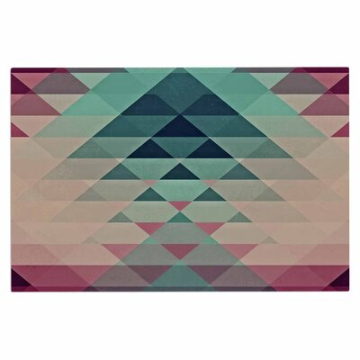 Hipster Girl Doormat Color: Maroon/Teal