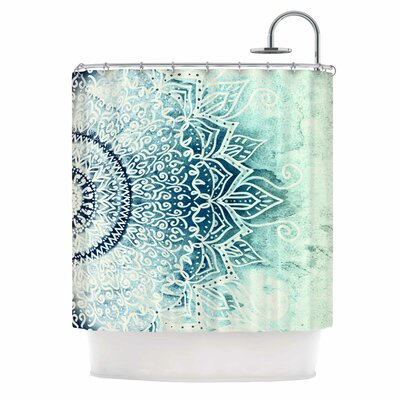 Blue Mina Mandala Shower Curtain