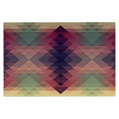 Hipsterland Doormat Color: Maroon/Green