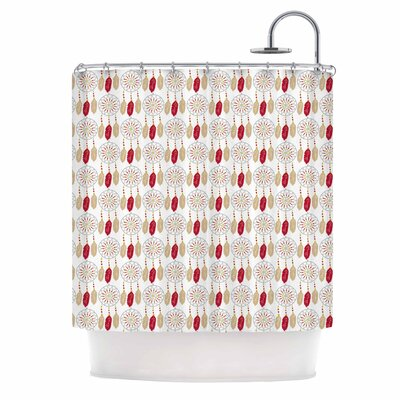 Dreams in Color Red Shower Curtain