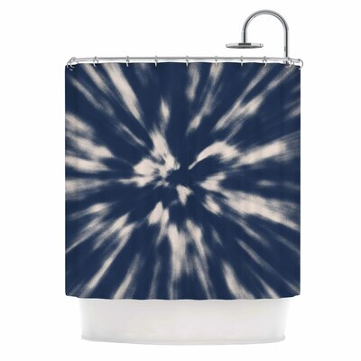 Tie Dye Urban Shower Curtain Color: Blue