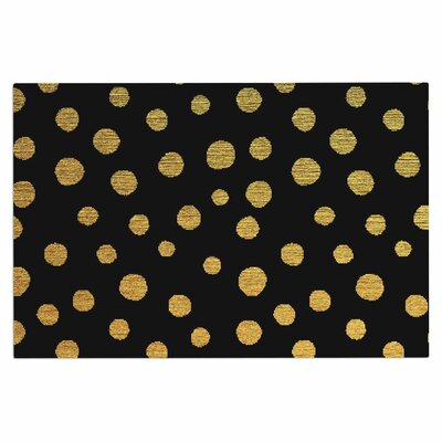 Golden Dots Doormat Color: Yellow/Black