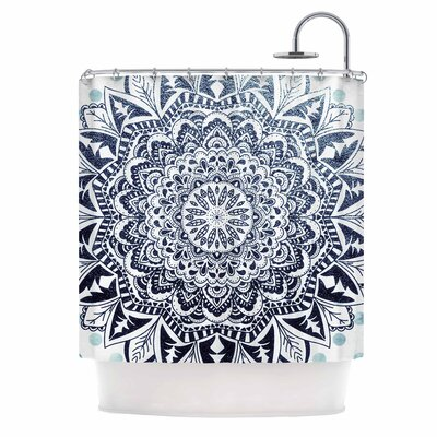 Dots Mandala Illustration Shower Curtain