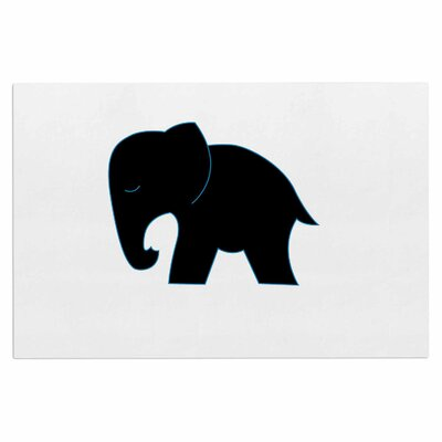 Cute Black Elephant Doormat