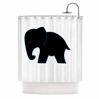 Cute Black Elephant Shower Curtain