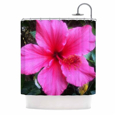 Tropical Pink Hibiscus Shower Curtain
