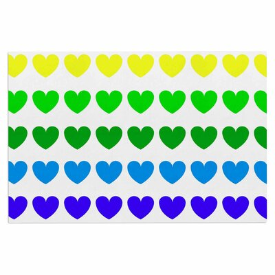 Rainbow Hearts Love Decorative Doormat