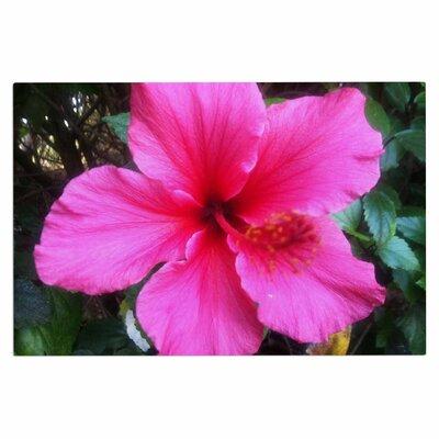 Tropical Pink Hibiscus Doormat