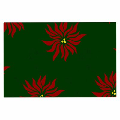 Poinsettias Doormat