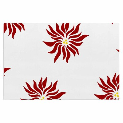 White Poinsettias Doormat
