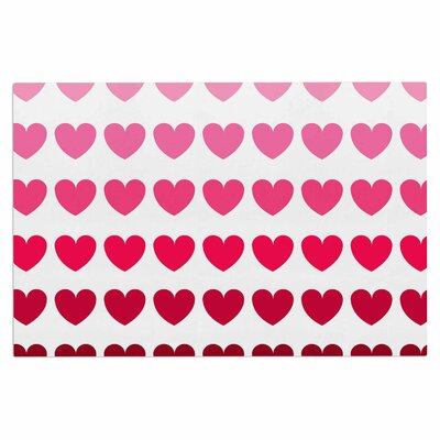 Pink Hearts Love Decorative Doormat