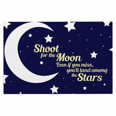 Moon and Stars Quote Doormat