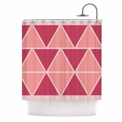 Triangles Shower Curtain Color: Pink