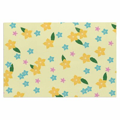 Tropical Flowers Doormat