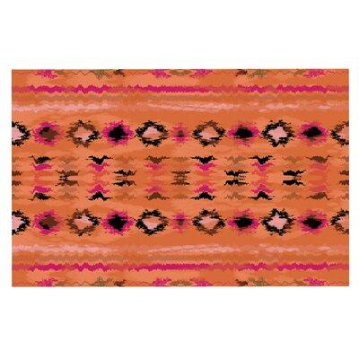 Navano Tribal Decorative Doormat Color: Orange