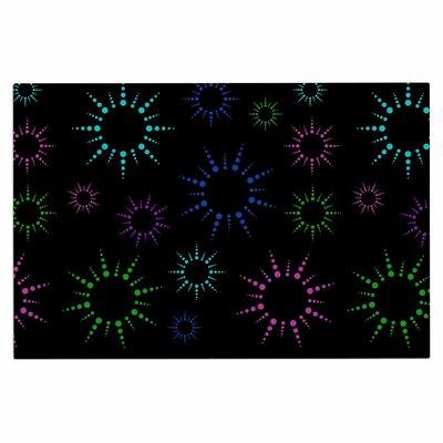Rainbow Fireworks Doormat Color: Black/Blue/Pink