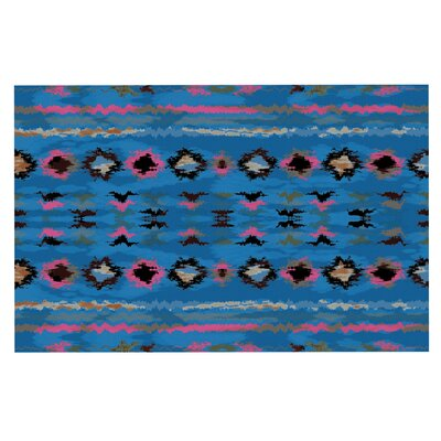 Navano Tribal Decorative Doormat Color: Blue