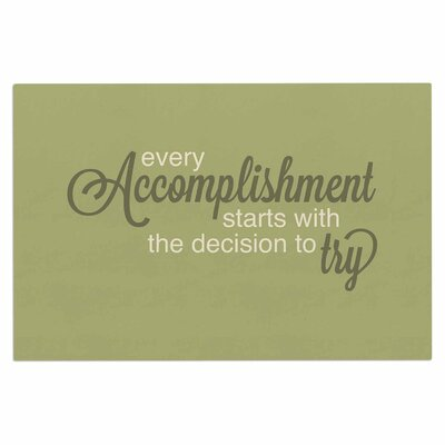 Accomplishment Green Doormat