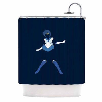 Mercury Senshi Shower Curtain