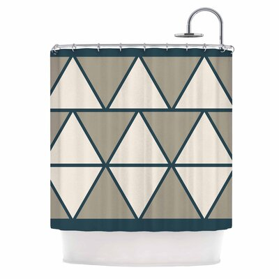Triangles Shower Curtain Color: Sandstone/Beige
