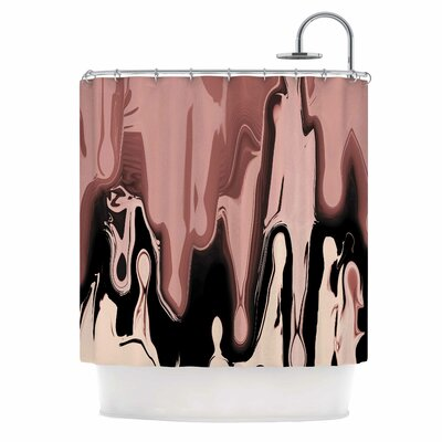 Nude Drip Shower Curtain