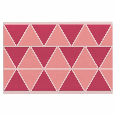 Coral Peach Triangles Doormat