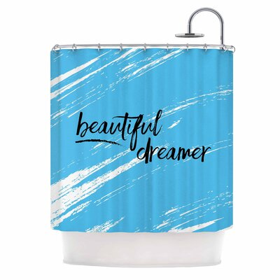 Beautiful Dreamer Typography Shower Curtain