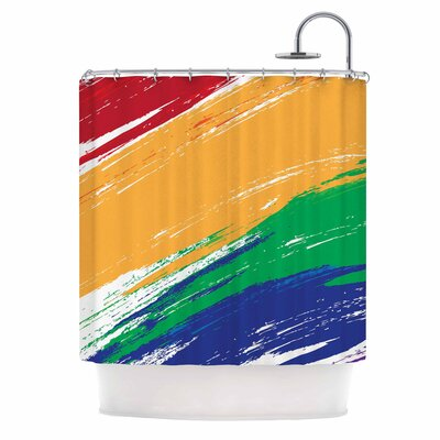 Rainbow Paint Illustration Shower Curtain