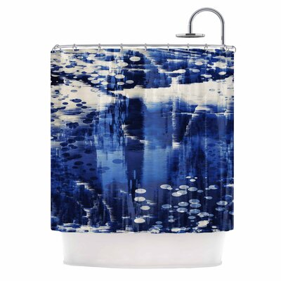'Blue Extract' Digital Shower Curtain