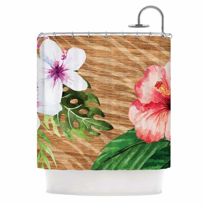 Vintage Tropical Jungle Shower Curtain
