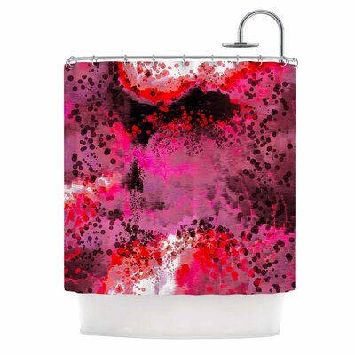 Pink Fizz Digital Shower Curtain