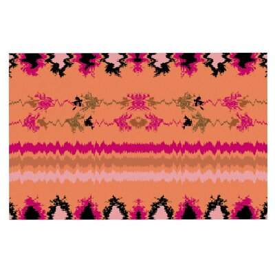 Nava Tribal Decorative Doormat Color: Peach/Orange