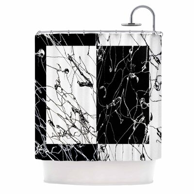 Neutra Splatter Mixed Media Shower Curtain