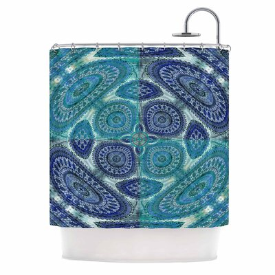 Mandala World Digital Shower Curtain