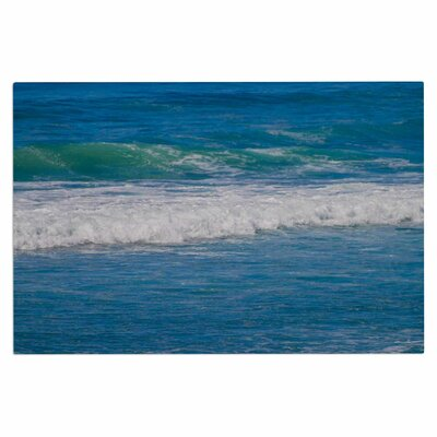 Solana Beach Rolling Waves Coastal Decorative Doormat