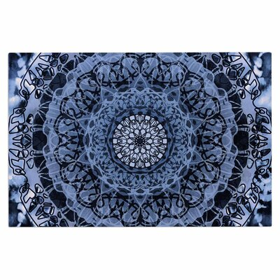 Tie-Dye Mandala Jain Doormat Color: Blue/White