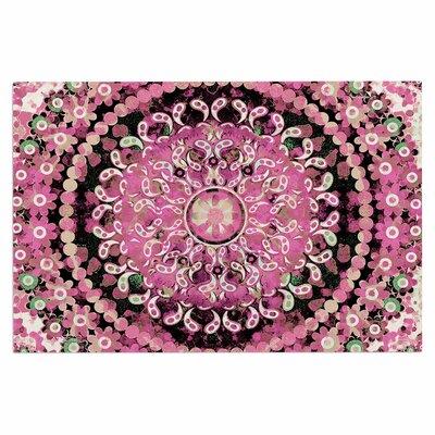 Pink Mosaic Mandala Doormat