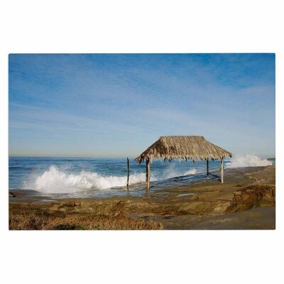 Crashing Waves Near Hut Doormat