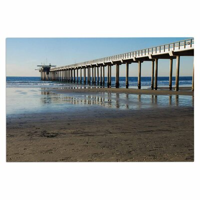 Scripps Beach Pier Coastal Photography Decorative Doormat