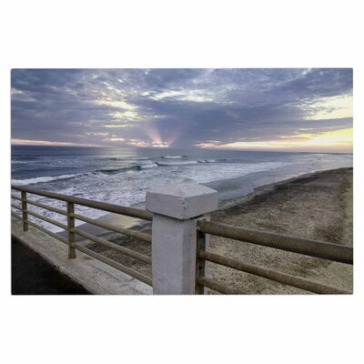 Oceanside Pier at Sunset Coastal Photography Decorative Doormat
