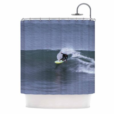 Surfers Ride Shower Curtain