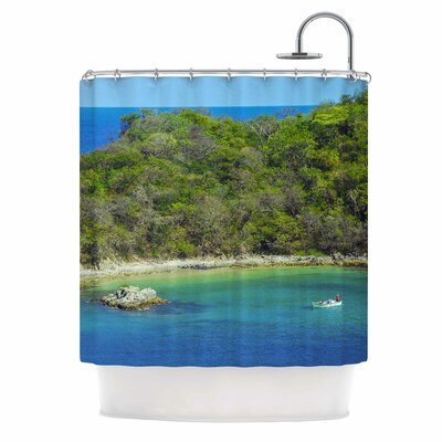 The Lonely Fisherman Photography Shower Curtain